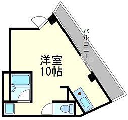 大阪府大阪市東淀川区淡路4の賃貸マンションの間取り