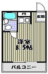 大須賀マンションⅡ[3階]の間取り