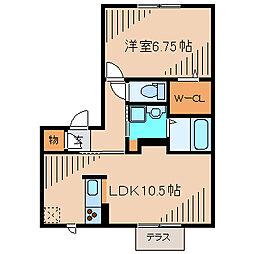 スクエア ヤマニ[1階]の間取り