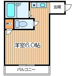 ルーミングイン千舟[4階]の間取り
