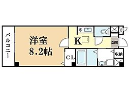 京都府京田辺市薪水取の賃貸アパートの間取り
