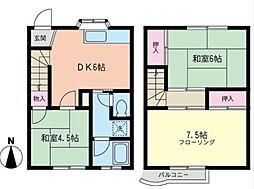 [テラスハウス] 神奈川県藤沢市天神町1丁目 の賃貸【/】の間取り