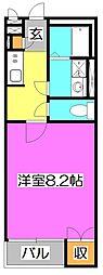 埼玉県新座市野火止6丁目の賃貸アパートの間取り