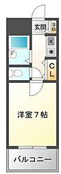 ハイムタケダT7[2階]の間取り