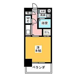 グランエターナ名古屋鶴舞[10階]の間取り
