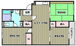 メゾントリヴァンベール[3階]の間取り