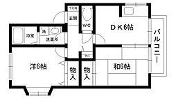 LEVANTE夙川[203号室]の間取り