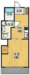 兵庫県西宮市森下町の賃貸マンションの間取り