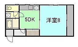 ビレッヂアトム[4階]の間取り