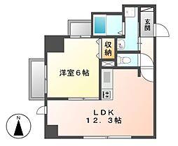 P−SQUARE Shumoku[8階]の間取り