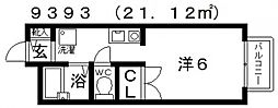メゾンTOKI(メゾントキ)[203号室号室]の間取り