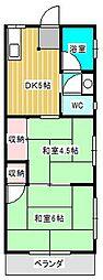 丸大マンション[3階]の間取り