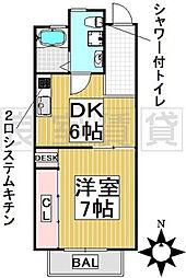 愛知県名古屋市千種区東明町2丁目の賃貸マンションの間取り
