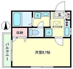 柿の木坂ハウス[1階]の間取り