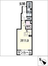 アーコンシェル B棟[1階]の間取り