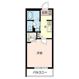RUHE・MIU[3階]の間取り
