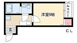 愛知県名古屋市南区源兵衛町1丁目の賃貸アパートの間取り