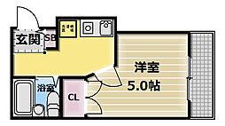 大阪府東大阪市上小阪4丁目の賃貸マンションの間取り
