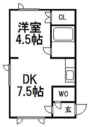 イーグルホーム2[102号室]の間取り