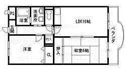 ドミソレイユ[2階]の間取り