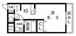 マ・メゾン加美[203号室号室]の間取り