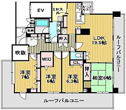 リーベスト浜寺昭和町[5階]の間取り