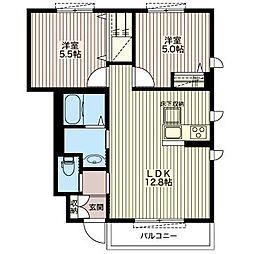 ソレイユハイツ[1階]の間取り