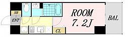 プレサンス OSAKA DOMECITY クロスティ 13階1Kの間取り