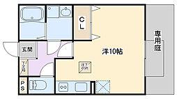 セジュールAMIKAII[105号室]の間取り