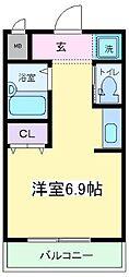 大阪府大阪市東住吉区住道矢田1丁目の賃貸アパートの間取り