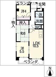 ロイヤルメゾンII[2階]の間取り