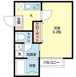 埼玉県川越市久保町の賃貸アパートの間取り