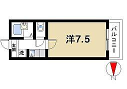 奈良県奈良市三碓2丁目の賃貸アパートの間取り