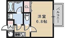 マメゾン阿倍野[203号室]の間取り