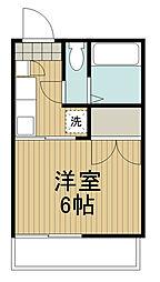 ハイム高野台[2階]の間取り