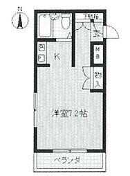 ジョイフル北武庫之荘[405号室]の間取り