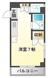 サクセス江坂[3階]の間取り