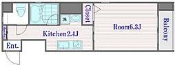 東京都板橋区赤塚5丁目の賃貸マンションの間取り
