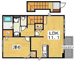 ベルカーサI・II・III[2階]の間取り