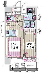 プレサンス京町堀ノース[13階]の間取り