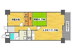 サワードゥ住之江公園[2階]の間取り