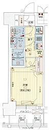 Osaka Metro中央線 九条駅 徒歩1分の賃貸マンション 5階1Kの間取り