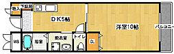 フェアリーコート鳳[301号室]の間取り