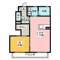 プロシード II棟[1階]の間取り