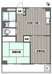 東都自動車浮間マンション[606号室]の間取り
