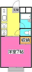 プチメゾンキーボード[2階]の間取り