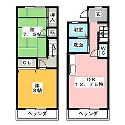 [テラスハウス] 静岡県掛川市北門 の賃貸【/】の間取り