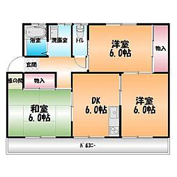 林マンション[3階]の間取り