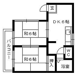 ハイツKM[1階]の間取り