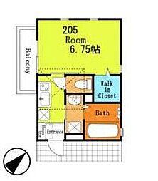 Loftia六番館[2階]の間取り